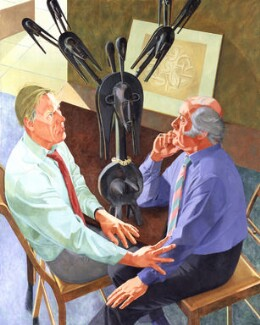 Sir David Attenborough; Richard Attenborough, by Ivy Smith - NPG 6073