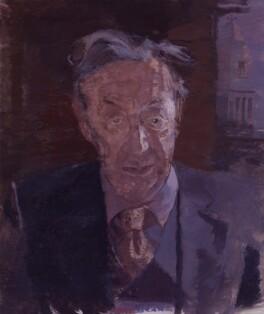 Sir Alfred Jules Ayer, by Humphrey Ocean (Humphrey Anthony Erdeswick Butler-Bowdon), 1985 - NPG 5823 - © National Portrait Gallery, London
