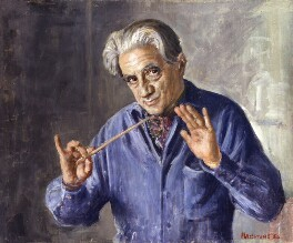 Sir John Barbirolli, by Bernard Hailstone - NPG 5983