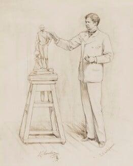 Sir Joseph Edgar Boehm, 1st Bt, by Theodore Blake Wirgman - NPG 5414