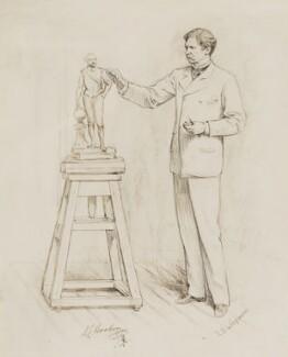 Sir Joseph Edgar Boehm, 1st Bt, by Theodore Blake Wirgman, circa 1882 -NPG 5414 - © National Portrait Gallery, London