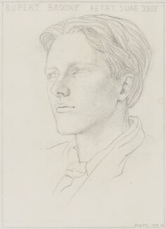 Rupert Brooke, by Gwen Raverat - NPG 5817