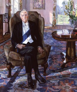 Richard Austen ('Rab') Butler, 1st Baron Butler of Saffron Walden, by Margaret Foreman, 1981 - NPG  - © National Portrait Gallery, London