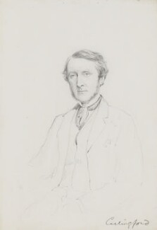 Chichester Samuel Parkinson-Fortescue, Baron Carlingford and 2nd Baron Clermont, by Frederick Sargent - NPG 5603