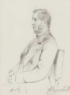 Francis George Spencer, 2nd Baron Churchill, by Frederick Sargent - NPG 5631