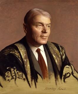 Sir Cyril Astley Clarke, by Stanley Reed - NPG 6548