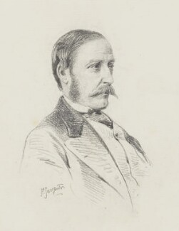 Dudley Charles Fitzgerald de Ros, 24th Baron de Ros, by Frederick Sargent - NPG 5641