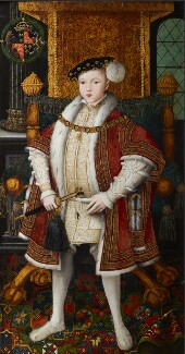King Edward VI, by Workshop associated with 'Master John', circa 1547 - NPG 5511 - © National Portrait Gallery, London