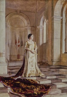 Queen Elizabeth, the Queen Mother, by Sir Gerald Kelly, 1940 - NPG 5287 - © reserved; collection National Portrait Gallery, London
