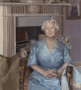 Queen Elizabeth, the Queen Mother, by Alison Watt, 1989 - NPG 6042 - © National Portrait Gallery, London