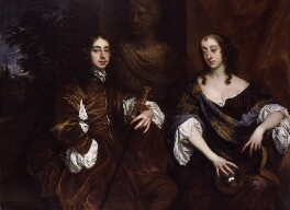 Arthur Capel, 1st Earl of Essex; Elizabeth, Countess of Essex, by Sir Peter Lely - NPG 5461