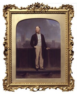 Unknown man, formerly known as Sir John Fowler, 1st Bt, by John Jabez Edwin Mayall - NPG P326