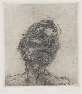 Lucian Freud, by Frank Auerbach, 1981 - NPG  - © Frank Auerbach / Marlborough Fine Art (London) Ltd / National Portrait Gallery, London