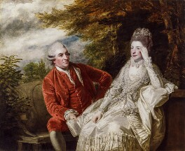 David Garrick; Eva Maria Garrick (née Veigel), by Sir Joshua Reynolds, 1772-1773 - NPG  - © National Portrait Gallery, London