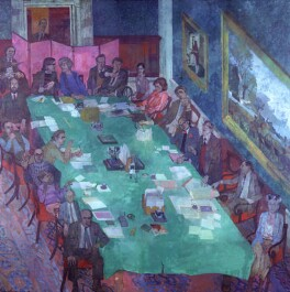 The Meeting, Royal Academy of Arts, by Leonard Rosoman, 1979-1984 - NPG  - © National Portrait Gallery, London