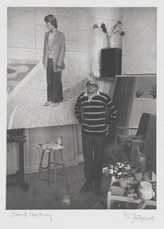 David Hockney, by John Hedgecoe - NPG P160