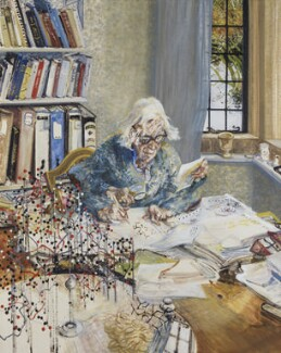 Dorothy Hodgkin, by Maggi Hambling, 1985 - NPG  - © National Portrait Gallery, London
