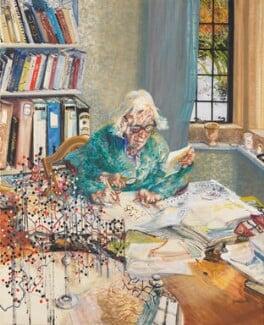 Dorothy Hodgkin, by Maggi Hambling, 1985 - NPG 5797 - © National Portrait Gallery, London