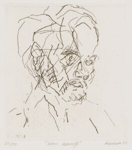 Leon Kossoff, by Frank Auerbach, 1980 - NPG 6553 - © Frank Auerbach / Marlborough Fine Art (London) Ltd / National Portrait Gallery, London