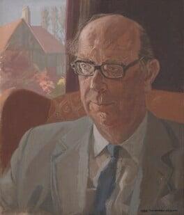 Philip Larkin, by Humphrey Ocean (Humphrey Anthony Erdeswick Butler-Bowdon), 1984 - NPG 5746 - © National Portrait Gallery, London