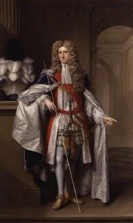 Thomas Osborne, 1st Duke of Leeds ('Lord Danby'), by Johann Kerseboom, and  Jan van der Vaart - NPG 5718