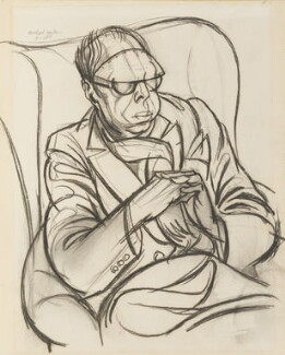 Wyndham Lewis, by Michael Ayrton, 1955 - NPG 5995 - © estate of Michael Ayrton / National Portrait Gallery, London