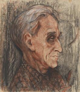(Basil) Kingsley Martin, by Laurence Henderson Bradshaw - NPG 5528