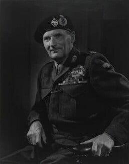 Bernard Law Montgomery, 1st Viscount Montgomery of Alamein, by Yousuf Karsh, 1946 - NPG P249 - © Karsh / Camera Press