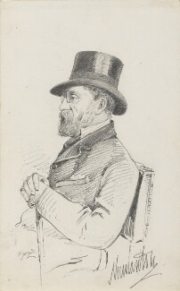 James Charles Herbert Welbore Ellis Agar, 3rd Earl of Normanton, by Frederick Sargent - NPG 5665