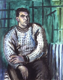 Sir Eduardo Paolozzi, by Cathleen Sabine Mann, circa 1952 - NPG 6005 - © National Portrait Gallery, London