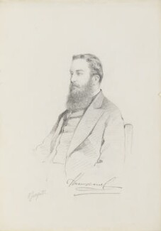 Mervyn Wingfield, 7th Viscount Powerscourt, by Frederick Sargent - NPG 5667