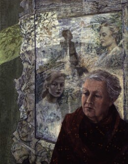 Kathleen Raine, by Victoria Crowe, 1984 - NPG 5748 - © Victoria Crowe