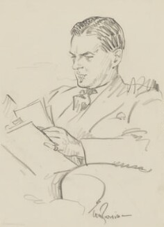 Terence Rattigan, by Tom Purvis - NPG 5558a