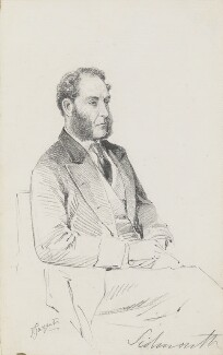 William Wells Addington, 3rd Viscount Sidmouth, by Frederick Sargent - NPG 5673