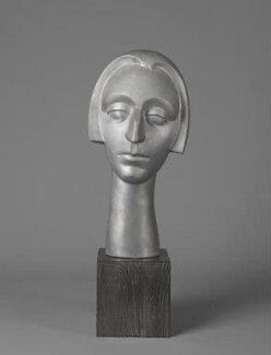 Edith Sitwell, by Maurice Lambert, 1985, based on a work of circa 1926-1927 - NPG 5801 - Photograph © National Portrait Gallery, London