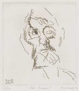 Joe Tilson, by Frank Auerbach - NPG 5467