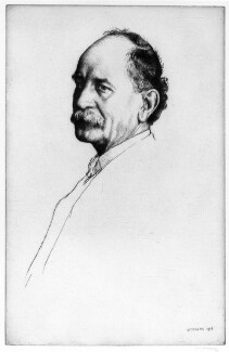 Sir Emery Walker, by William Strang - NPG 5977
