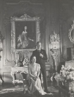 Wallis, Duchess of Windsor; Prince Edward, Duke of Windsor (King Edward VIII), by Cecil Beaton, 1949 - NPG P276 - © V&A Images