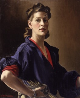 Anna Zinkeisen, by Anna Zinkeisen, circa 1944 - NPG  - © National Portrait Gallery, London