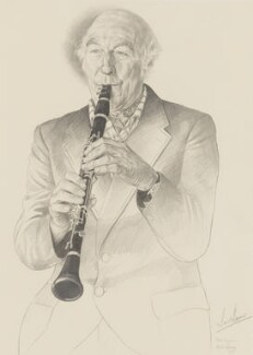 Jack Brymer, by Kevin Geary - NPG 6139