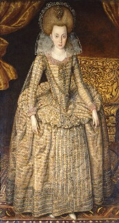 Princess Elizabeth, Queen of Bohemia and Electress Palatine, by Robert Peake the Elder, circa 1610 - NPG  - © National Portrait Gallery, London