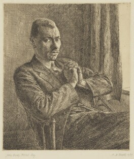 Enoch Powell, by Hubert Andrew Freeth - NPG 6130