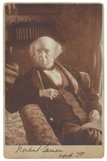 Herbert Spencer, by Unknown photographer - NPG P514