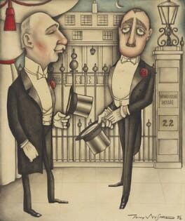 Ivor Churchill Guest, 1st Viscount Wimborne; Ivor Grosvenor Guest, 2nd Viscount Wimborne, by Anthony Wysard - NPG 6127