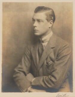 Prince Edward, Duke of Windsor (King Edward VIII), by Hugh Cecil (Hugh Cecil Saunders), 1925 - NPG P503 - © reserved; collection National Portrait Gallery, London