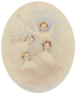 The Children of Benjamin and Elizabeth Mayson, attributed to Henry Dorling, 1848 - NPG  - © National Portrait Gallery, London