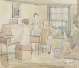 Musical Group (Madge Lee (née Pemberton); John Nash; Rupert Lee; Margaret Nash (née Odeh); Paul Nash), by Paul Nash - NPG 5509