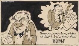 (Alfred) Ernest Marples, 1st Baron Marples; Harold Wilson, by John Musgrave-Wood ('Emmwood') - NPG 5362