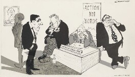 'Well, Marples hath gone - now what?', by John Musgrave-Wood ('Emmwood'), 1967 - NPG 5363 - © National Portrait Gallery, London