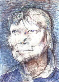 Iris Murdoch, by Tom Phillips - NPG 5944(2)